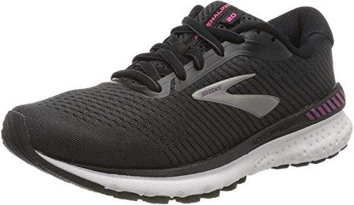 Brooks Women's Adrenaline Gts 20 Running Shoes, Black / White / Hollyhock, 3 UK (35.5 EU)
