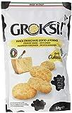 GROKSi! Classico 60g, Käse-Snack aus Italien, glutenfreie Parmesan Cracker in praktischer 60g Tüte, kalorienarm
