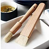 2ST Küche Öl Bürsten-Pinsel Holzgriff Grill Backpinsel Backen Kochen Werkzeuge