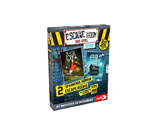 Noris 606101894 Escape Room Duo Horror Familien und Gesellschaftsspiel für Erwachsene, inkl. 2 Promo Fall mit neuartigem Falt-Mechanismus, ab 16 Jahren