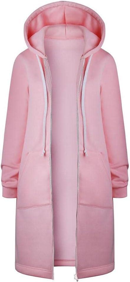 Obersheen Women's Hoodies Cardigan Long Zip Sweatshirt Casual Year-end gift up Nippon regular agency