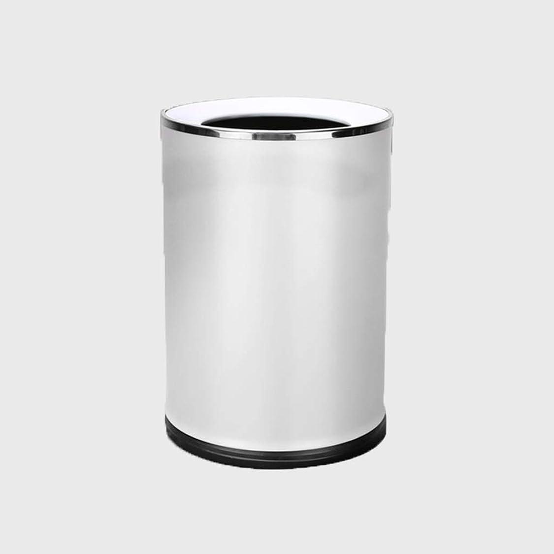 最後に興奮するスタックゴミ箱ステンレス鋼ゴミ箱容量8l密封無臭滑り止めベースダブルバレルに適しリビングルーム寝室キッチン HYBKY (Color : Silver)