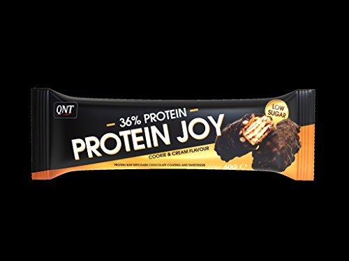 QNT 38{e66431aebddccfa09e9bf37967be1c8bf5eb4c25414c522dfe60984df7dc6db0} Protein Joy 60g Cookie & Cream; 24 Riegel