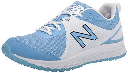 New Balance Men's Fresh Foam 3000 V5 Turf Baseball Shoe, Carolina Blue/White, 10.5