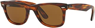 RB2140 Original Wayfarer Sunglasses (50 mm, Light Tortoise Frame Solid B15 Lens)