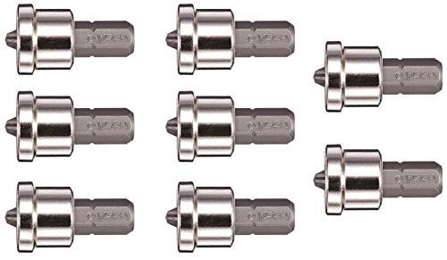 "VEGA Phillips #2 Drywall Screw Setter 1"" Bits. Professional Grade ¼ Inch Hex Shank Phillips #2 Drywall Indenter Insert Bits. 125P2C-8 (Pack of 8)"