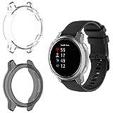 MWOOT 2 Fundas Silicona Compatible con Garmin Venu GPS Smartwatch Protección, Anti-caída Carcasas Protector para Proteger Reloj Blanco&Negro