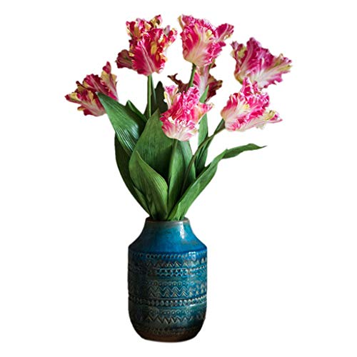 Kunstmatige Boeketten van tulpen Bridal Real Touch Bloemen for de bruiloft huis tafeldecoratie
