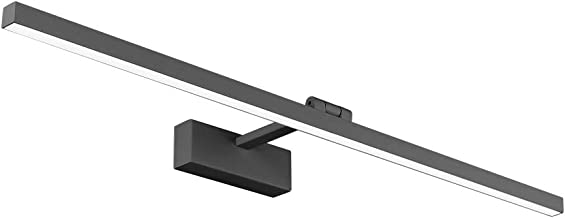 Klighten Led-spiegellamp, 18 W, fotolamp, 180 graden instelbaar, wandverlichting, waterdicht, IP44, koud wit, 5500 K, zwart