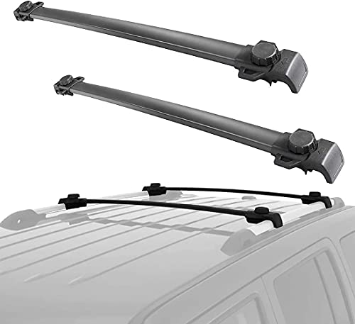 Coche Bacas Barra Transversal para Jeep Patriot 2007-2020, De Aluminio portaequipajes Portabicicletas...