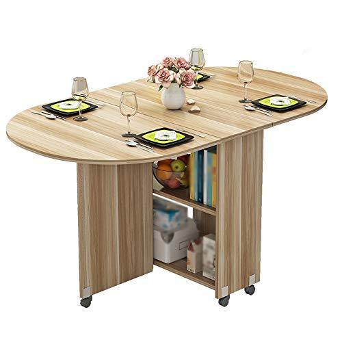 HX Semplice E Moderno Piccolo Appartamento Tavolo Pieghevole Casa Ovale Tavolo Pieghevole Tavolo da Pranzo Pieghevole Tavolo Mobile A+ (Colore : A)