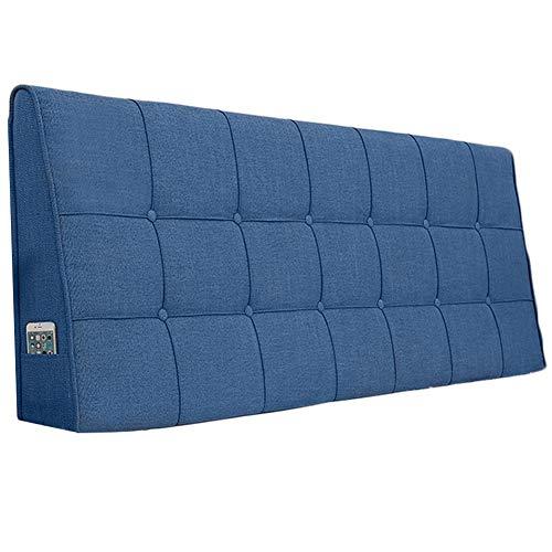 WENZHE Kopfteil Kissen Für Betten Bett Rückenkissen Rückenlehne Bettrückwand Baumwolle Und Leinen Soft Case Zuhause Schlafzimmer Taillenpolster Waschbar, 8 Farben (Color : B, Size : 200x62cm)