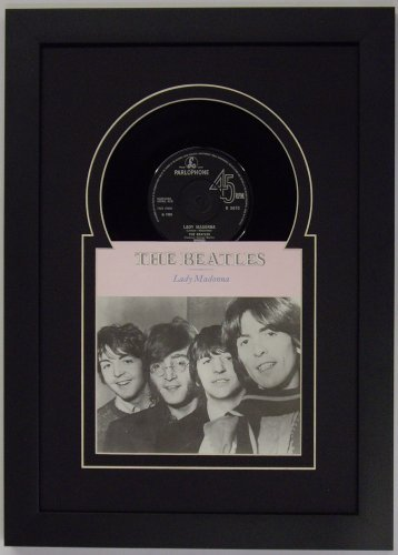 45 (6 7/8') inch Vinyl Record and Record Sleeve Frame Featuring Black Mat Design and Solid Wood...