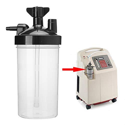 Qinlorgo Taza de humidificación del generador de oxígeno - Botellas de humidificador del generador de oxígeno Accesorio de Taza de humidificación del concentrador de oxígeno