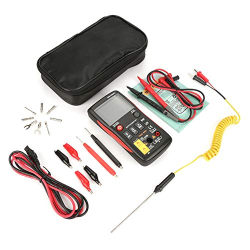 Akozon Digital Multimeter Electrical Tester ANENG Q1 True RMS Digital Multimeter Button 9999 Counts With Analog Bar Graph AC/DC Voltage Ammeter Current Ohm Auto/Manual