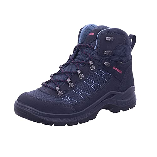 Lowa Taurus PRO GTX® MID Ws Damen Wanderstiefel Tracking Outdoor Goretex Blau, Schuhgröße:42 EU