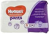 Huggies Ultra Comfort Pants, Culottes absorbantes bébé Taille 4 (9-14 kg), 72 culottes, Unisexe, Pack 1 mois de consommation
