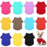 URATOT 12 Pack Cozy Dog Shirt Pet Clothes Puppy Apparel Dog Blank T-Shirt for Small and Medium Puppies, Dogs, and Other Pets, X-Large