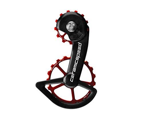 Ceramicspeed Zubehör Getriebe Ospw mit Pulegge Carbon 11 Gänge, Rot Shimano 8000/9100 Unisex Erwachsene, Mehrfarbig, Einheitsgröße