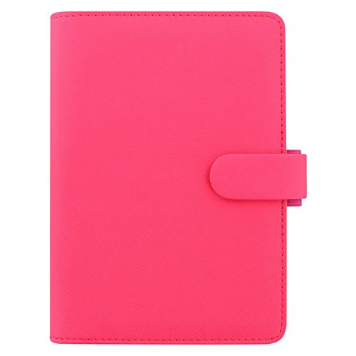 Filofax Personal Saffiano fluro pink organiser