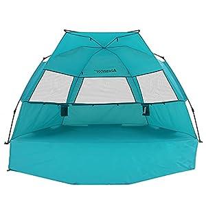 Alvanator Beach Tent Umbrella Outdoor Sun Shelter Cabana Automatic Pop Up