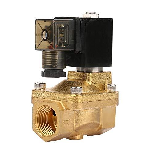 1pcs PU225-06 G3/4 25 mm Latón Electroválvula Solenoide DC 12 V, DC 24 V, AC 110 V, AC 220 V Agua Aire Luz Aceite (DC24 V)
