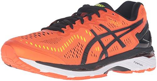 Asics Gel-Kayano 23 - Zapatillas para Hombre (Talla M), Color Negro, Plateado y Amarillo, Color Naranja, Talla 46.5 EU