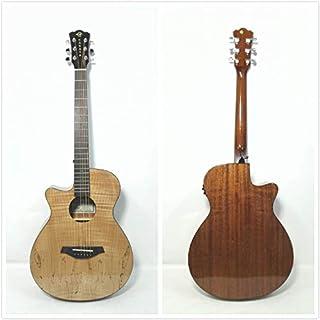 "40"" Caraya OM Left-Handed Electric-Acoustic Guitar,Spalted Maple Veneer |GYPSY-CEQ/GC|"