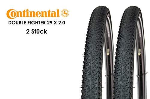 2 Stück Continental Double Fighter 29 x 2.0 Fahrrad Reifen 50-622 Mantel Decke Tire Reflexstreifen