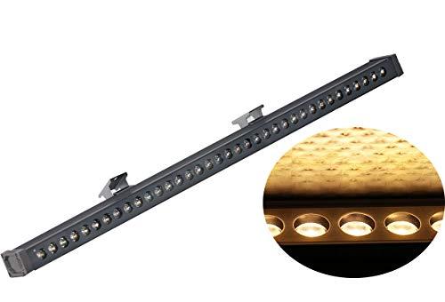 LED Wandleuchte | Außenleuchte wasserfest IP65| Wallwasher| Bodenleuchte außen| Für Innen & Außen |Warmweiss (36x1W)
