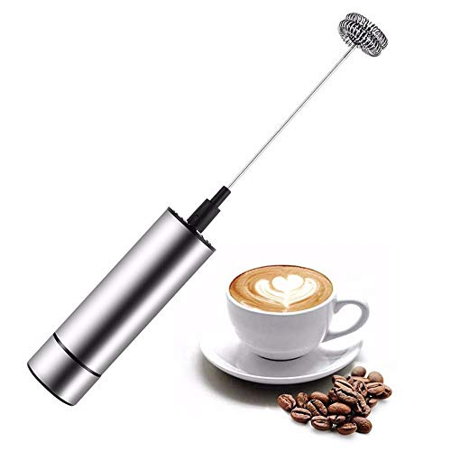 MZGN Espumador De Leche Eléctrico De Acero Inoxidable Espumador De Leche Mini Licuadora De Café Juego De Espumador De Leche