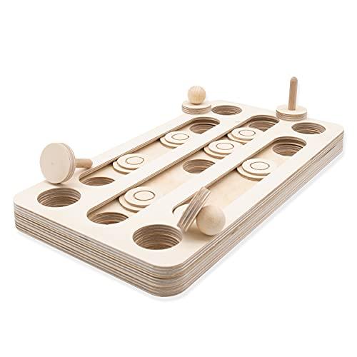 INEXTERIOR Intelligenzspielzeug für Hunde - Vielseitige Anwendung mit unterschiedlicher Schwierigkeit - langlebig aus Holz - Made in Germany (gerade)