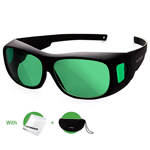 VIVOSUN Indoor Hydroponics LED Grow Room Glasses with Glasses Case
