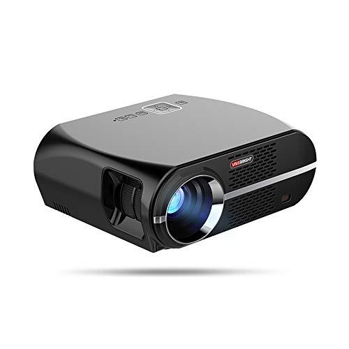 Sxgyubt ViviBright GP100 Heimkino-Projektor, 3500 Lumen, hohe Helligkeit, LED-Videoprojektor, Beamer, 1280 x 800 für Business One Schwarze europäische Vorschriften