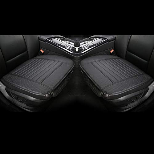 EDEALYN 2 Pcs PU Leather Universal Car Seat Covers...