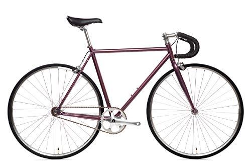 Buy Discount State Bicycle Fixed Gear/Single Speed Bike Drop Bar, Nightshade, 55cm/Medium