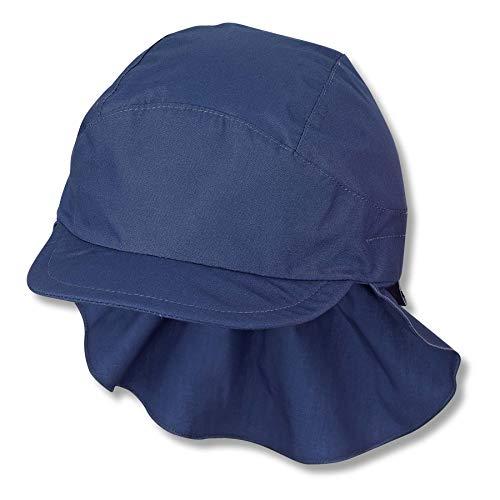 Sterntaler Unisex Kinder Schirmmütze M. Nackenschutz 1531430 Winter Hut, Blau, 57 EU