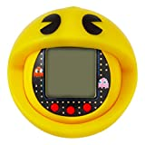 tamagotchi bandai 42861 nano-pac-man yellow version with case-feed, care, nurture, with chain for on the go play-electronic pets
