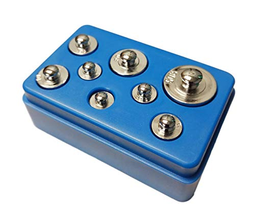 Sci-Supply 8 Piece Calibration Weight Set with Case 1g - 50g