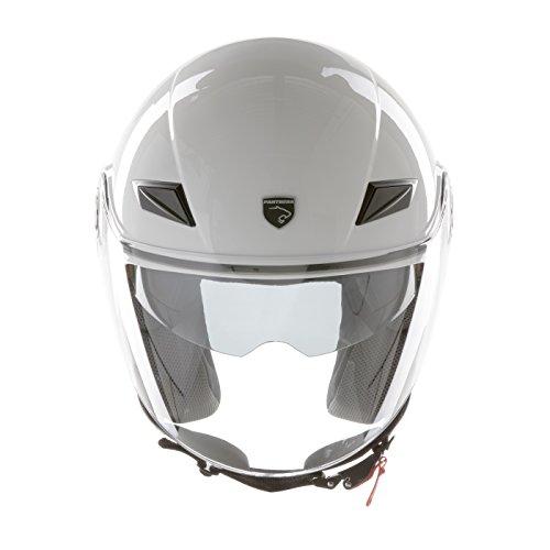 Panthera casco de moto full jet Trendy blanco brillante talla XL