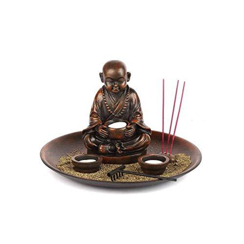 lachineuse Grand Jardin Zen avec Bonze