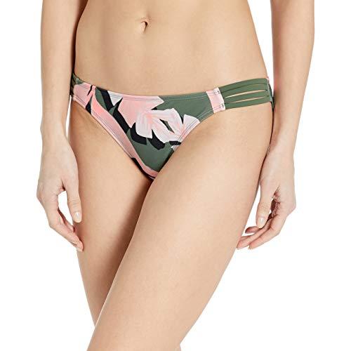 Body Glove Women\'s Flirty Surf Rider Bikini Bottom Swimsuit, Surface Cactus Leaf Print, Large