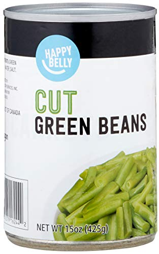 Amazon Brand - Happy Belly Cut Green Beans, 15 Ounce