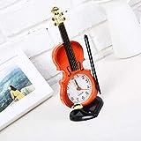 DXDX Mini-Version Kleine Geige Wecker Kreative Niedliche Kleine Ornamente 61 Kindertagsgeschenk rot