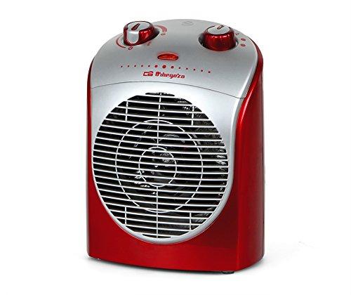 Orbegozo FH 5026 - Calefactor, 2 niveles de potencia, función ventilador aire frío, calor instantáneo, termostato regulable, 2200 W