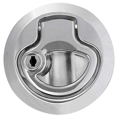 Cilinderslot Zink Legering Vloer Lifter Inlaat Handvat voor Boot Deck Hatch Lifter Deur Lock