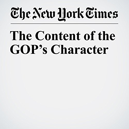 The Content of the GOP's Character copertina