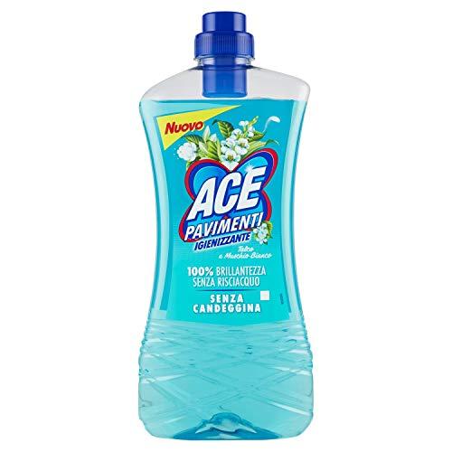 Ace+ Pavimenti Igienizzante senza Candeggina senza Risciacquo, Talco e Muschio Bianco, 1000ml