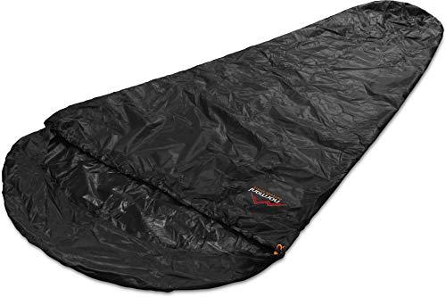 normani Schlafsacküberzug Biwaksack - 100% Wind- und wasserdicht, Atmungsaktivität: 3000 MVP (230 cm x 90 cm) Farbe Black Größe 230 x 90 x 60 cm - RV Links