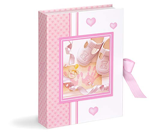 Mareli Scatola dei Primi Ricordi del Neonato, Regalo per la Nascita, rosa
